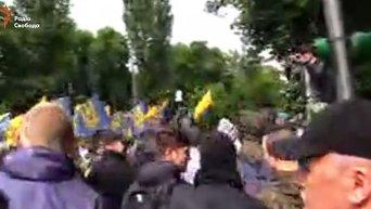 Марш Азова в центре Киева. Видео