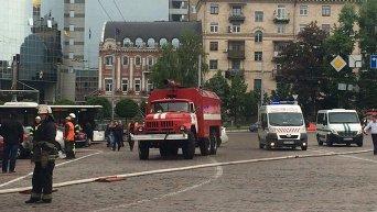 Пожар в здании ГУ НП Украины в Киеве