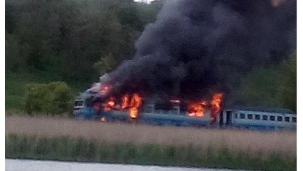 В Винницкой области загорелся пассажирский поезд