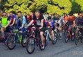 Массовый велозаезд Night Ride в Ужгороде