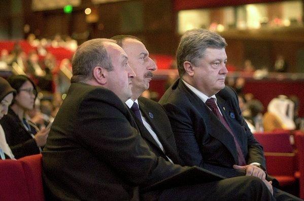 Петр Порошенко и Ильхам Алиев на саммите ООН в Стамбуле