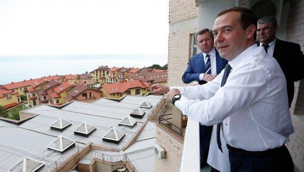 Рабочая поездка в Крым премьер-министра РФ Дмитрия Медведева