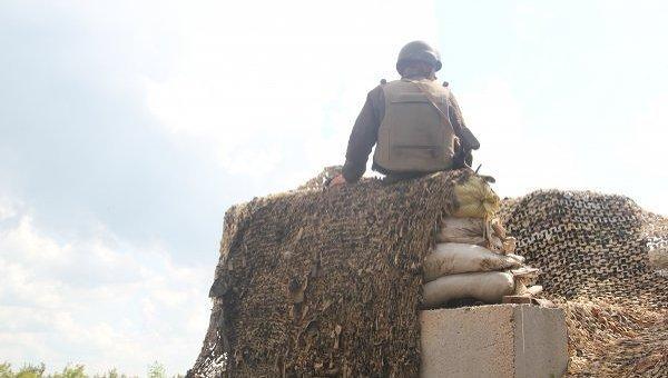 Позиции украинских военных на северо-западной окраине Авдеевки. Архивное фото