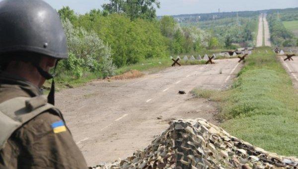 Позиции украинских военных на северо-западной окраине Авдеевки