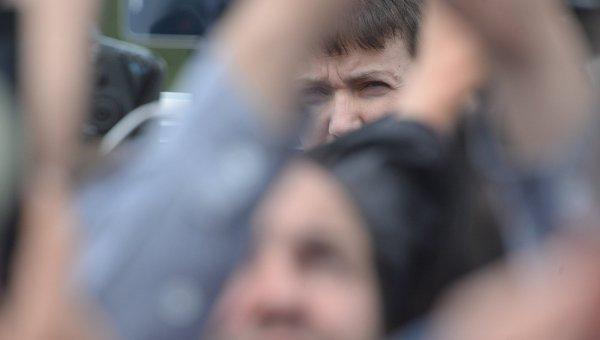 Савченко в аэропорту Борисполь