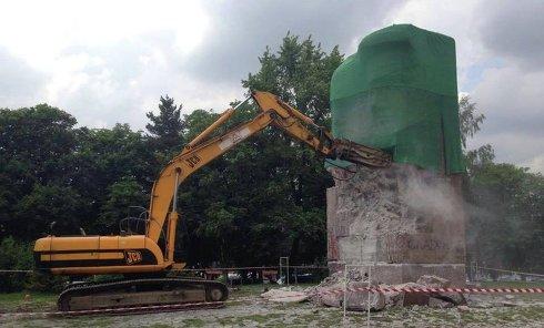 Снос памятника чекистам в Киеве