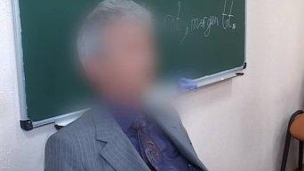 Допрос мужчины, напавшего на жену Турчинова. Видео