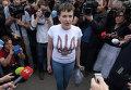 Надежда Савченко в аэропорту Киева