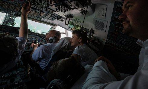 Самолет, на котором прилетела Надежда Савченко из РФ в Украину