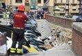 Крупный провал грунта в центре Флоренции