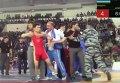 Проигравший борец затеял драку на чемпионате России