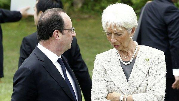 Франсуа Олланд и Кристин Лагард. Архивное фото
