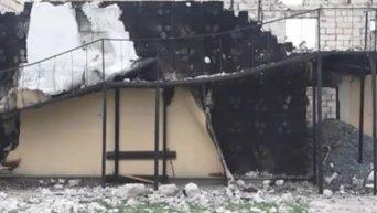Кадры с места пожара в доме престарелых под Киевом