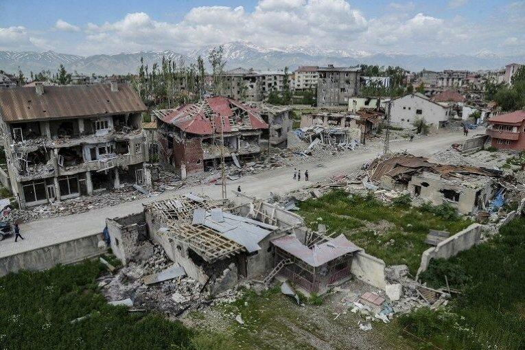 Последствия боев на юго-востоке Турции