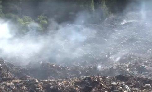 Новые кадры спасательной операции ГСЧС на свалке под Львовом. Видео
