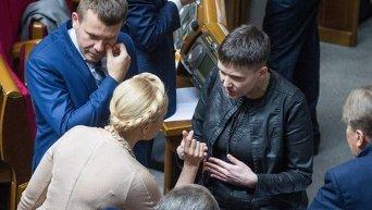 Юлия Тимошенко и Надежда Савченко. Архивное фото