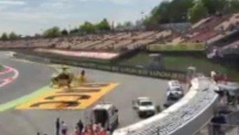 Мотогонщик Салом умер после аварии в практике на Гран-при Каталонии. Видео