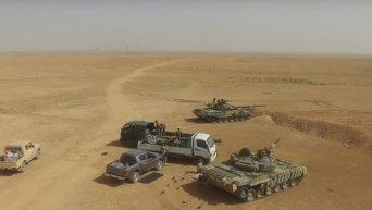 Штурм сирийской города Ракка с высоты птичьего полета. Видео