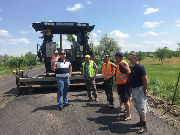 Михаил Саакашвили проинспектировал строительство дороги Одесса-Рени