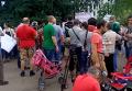 Митинг переселенцев из-за прекращения выплат под Донецкой ОВГА