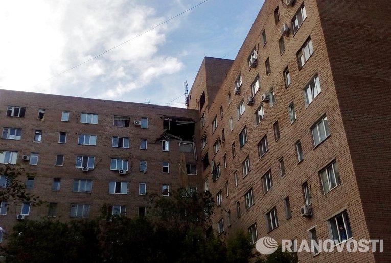 Взрыв газа в жилом доме в Оренбурге