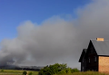Клубы черного дыма над Грибовицкой свалкой. Видео
