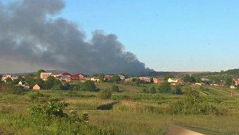 Пожар на Грибовицкой свалке под Львовом