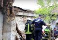 Спасение парня из-под завалов обрушившегося дома в Киеве