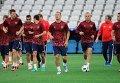 Тренировка сборной России во Франции