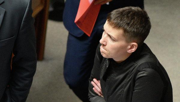 Надежда Савченко на заседании Рады.