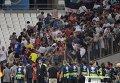 Драка болельщиков на матче Россия - Англия на Евро-2016