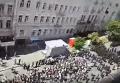 Массовый гей-парад в Киеве с высоты птичьего полета. Видео