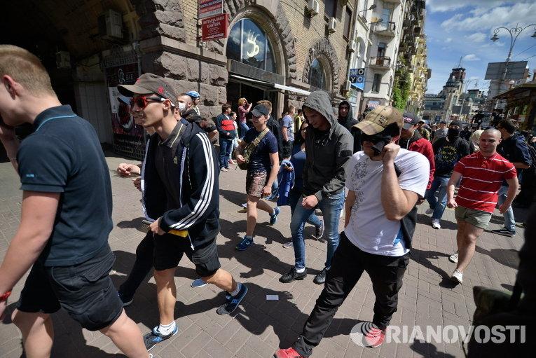 Марш противников ЛГБТ-парада в Киеве