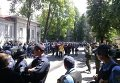 Гроб под генконсульством РФ в Харькове