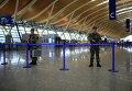 Полиция на месте взрыва, прогремевшем в международном аэропорту Пудун в Шанхае