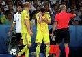 Игрок сборной Украины Евгений Селезнёв