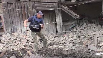 ОБСЕ на месте обстрелов в Донецке. Видео