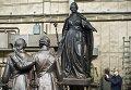 Отправка памятника Екатерине II в Крым. Архивное фото