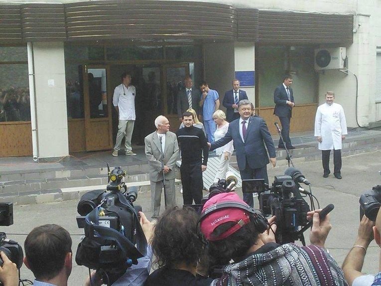 Встреча Порошенко с Афанасьевым и Солошенко