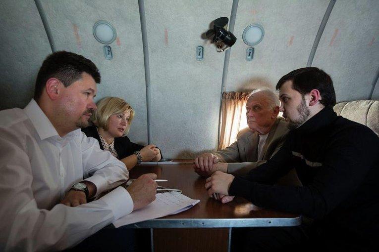 Святослав Цеголко, Ирина Геращенко, Юрий Солошенко и Геннадий Афанасьев