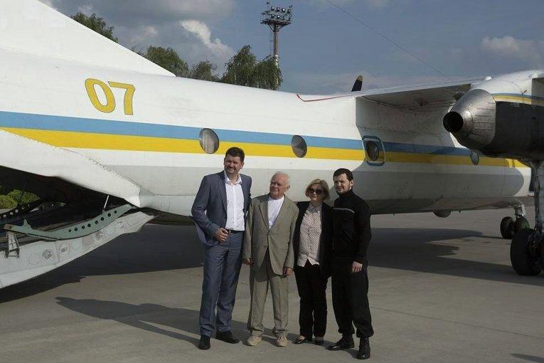 Святослав Цеголко, Юрий Солошенко, Ирина Геращенко и Геннадий Афанасьев в Москве