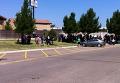 На месте освобождения заложников в городе Амарилло, Техас, США