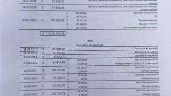 Документы из черной кассы Юлии Тимошенко, обнародованные журналистом Романом Бочкалой