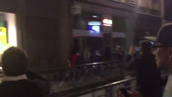 Ночная драка в Лилле. Видео