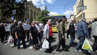 Шахтеры протестуют в Киеве. Архивное фото