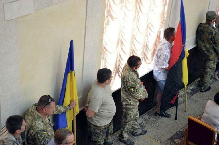 Саакашвили и бойцы АТО на сессии Одесского облсовета