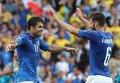 Игроки сборной Италии Эдер Мартинс (слева) и Антонио Кандрева. Архивное фото