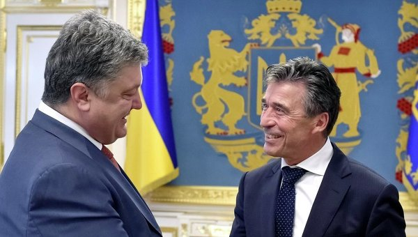 Петр Порошенко и Андерс Фог Расмуссен
