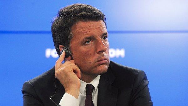 Председатель совета министров Итальянской Республики Маттео Ренци