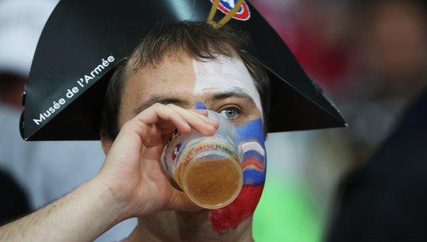 Российский футбольный болельщик на EURO-2016